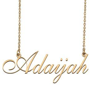 Custom Personalized Adaijah Name Necklace